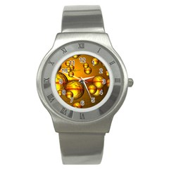 Sunset Bubbles Stainless Steel Watch (Unisex)