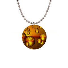 Sunset Bubbles Button Necklace