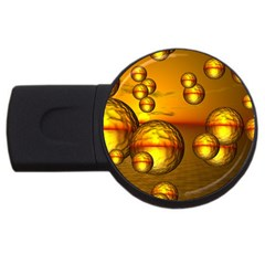 Sunset Bubbles 4gb Usb Flash Drive (round)