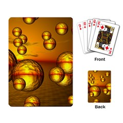 Sunset Bubbles Playing Cards Single Design