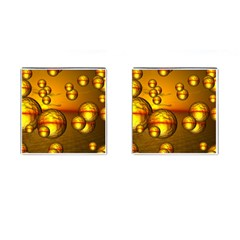 Sunset Bubbles Cufflinks (Square)