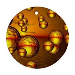 Sunset Bubbles Round Ornament (Two Sides)