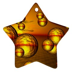 Sunset Bubbles Star Ornament (Two Sides)