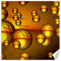 Sunset Bubbles Canvas 20  x 20  (Unframed)