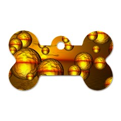 Sunset Bubbles Dog Tag Bone (two Sided)