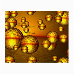 Sunset Bubbles Glasses Cloth (Small, Two Sided)