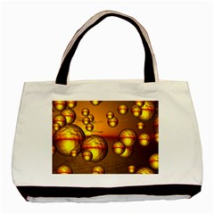 Sunset Bubbles Twin-sided Black Tote Bag