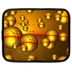 Sunset Bubbles Netbook Case (Large)