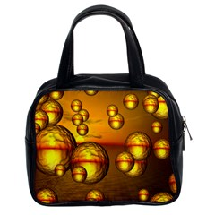 Sunset Bubbles Classic Handbag (Two Sides)