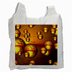 Sunset Bubbles Recycle Bag (two Sides)