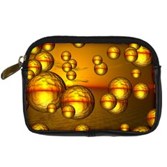 Sunset Bubbles Digital Camera Leather Case