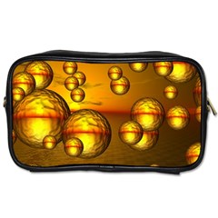 Sunset Bubbles Travel Toiletry Bag (Two Sides)