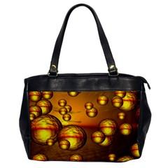 Sunset Bubbles Oversize Office Handbag (One Side)
