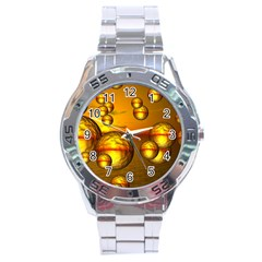 Sunset Bubbles Stainless Steel Watch (men s)