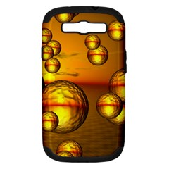 Sunset Bubbles Samsung Galaxy S Iii Hardshell Case (pc+silicone)