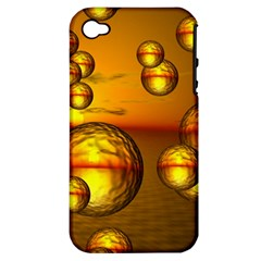 Sunset Bubbles Apple iPhone 4/4S Hardshell Case (PC+Silicone)