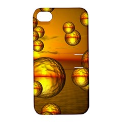 Sunset Bubbles Apple iPhone 4/4S Hardshell Case with Stand