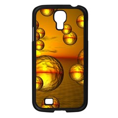 Sunset Bubbles Samsung Galaxy S4 I9500/ I9505 Case (Black)
