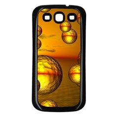 Sunset Bubbles Samsung Galaxy S3 Back Case (black)