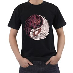 Yin Yang Mens' Two Sided T Shirt (black)