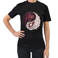 Yin Yang Womens' T-shirt (Black)