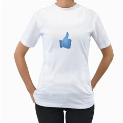 Facebook Like Tshirt Womens  T-shirt (White)
