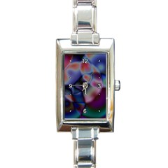 Multi Colour Rectangular Italian Charm Watch