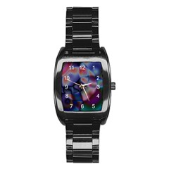Multi Colour Men s Stainless Steel Barrel Analog Watch