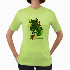 Capricorn Womens  T-shirt (Green)