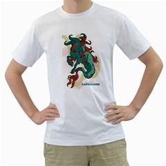 Capricorn Mens  T-shirt (White)