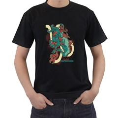 Capricorn Mens' Two Sided T Shirt (black)