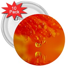 Waterdrops 3  Button (10 pack)