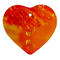 Waterdrops Heart Ornament (Two Sides)