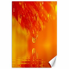 Waterdrops Canvas 20  x 30  (Unframed)