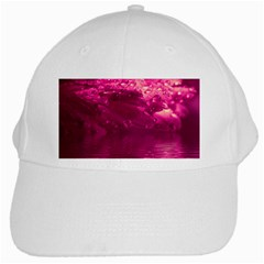 Waterdrops White Baseball Cap