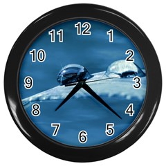 Drops Wall Clock (Black)