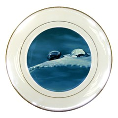 Drops Porcelain Display Plate