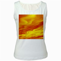 Design Womens  Tank Top (White)
