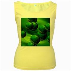 Magic Balls Womens  Tank Top (Yellow)