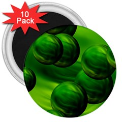 Magic Balls 3  Button Magnet (10 Pack)