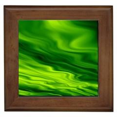 Green Framed Ceramic Tile