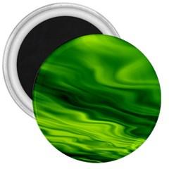 Green 3  Button Magnet