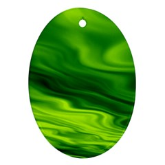 Green Oval Ornament