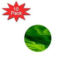 Green 1  Mini Button (10 Pack)