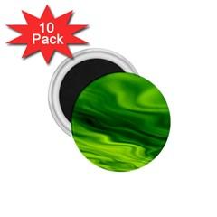 Green 1 75  Button Magnet (10 Pack)