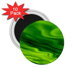 Green 2 25  Button Magnet (10 Pack)