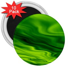 Green 3  Button Magnet (10 pack)