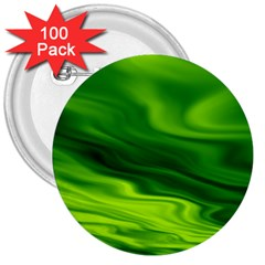 Green 3  Button (100 pack)