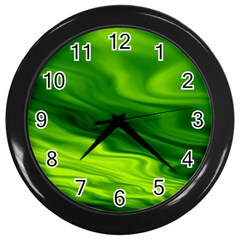 Green Wall Clock (Black)