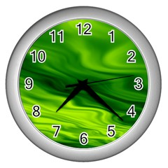 Green Wall Clock (Silver)